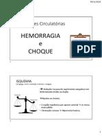 HEMORRAGIA e CHOQUE - Alterações Circulatórias