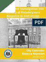 Investigative Report into Response to Civil Unrest in Philadelphia