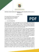 Comunicado de la Procuraduría Especial de la República sobre negociación judicial con la empresa Vestey