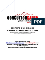 Manual Tarifario SOAT 2011