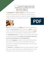 DEFINICIÓN DECONTABILIDAD BANCARIA