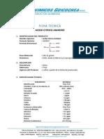 FT Acido Cítrico Anhidro TTCA
