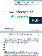Overview on Bioinformatics