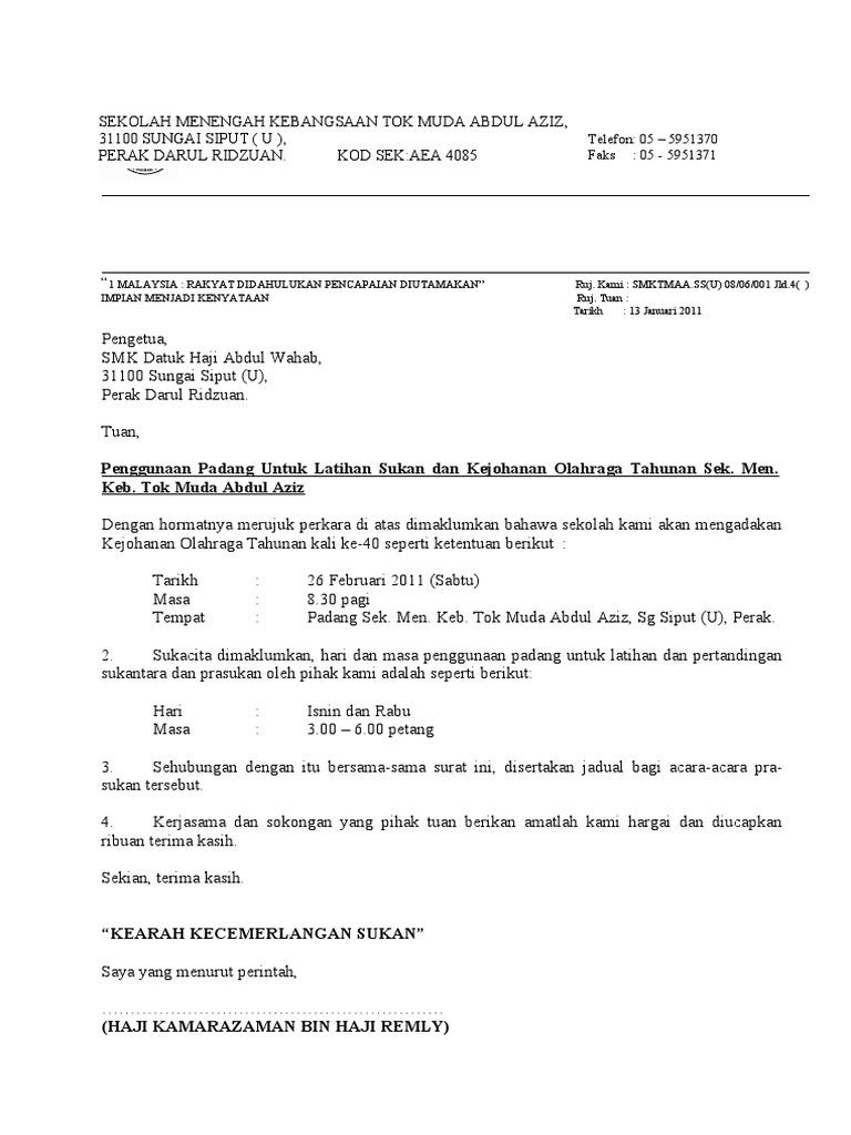 Borang Permohonan Ke Sekolah Sukan Bukit Jalil Perokok X