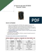 Manual Fácil de usar para GP2000X