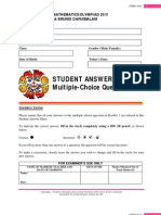 PSMO 2011_STUDENT ANSWER SHEET