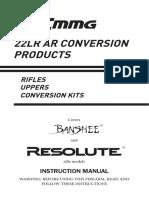 CMMG 22LR Conversion Kit Manual