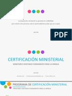 Programa de Certificación Ministerial