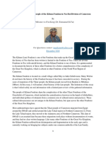 A Brief History of the people of the Kiluun Fondom in Nso Bui Division of Cameroon