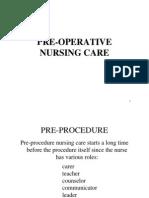 Pre op Nursing