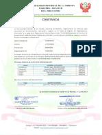 6. CONSTANCIA DE RECONOCIMIENTO, INSCRIPCION Y REGISTRO