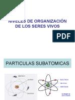 NIVELES DE ORGANIZACIÓN DE LOS SERES VIVOS.ppt