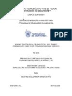 ADMINISTRACIÓN DE LA CALIDAD TOTAL, SEIS SIGMA Y PENSAMIENTO ESBELTO EN ORGANIZACIONES DE SERVICIO