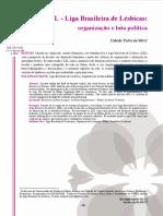 liga brasileira de lésbicas artigo