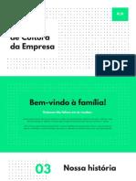 Verde e Preto Padrão Geométrico Playbook de Cultura da Empresa Apresentação