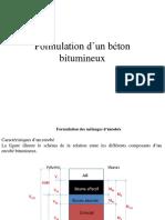 Formulation bitume