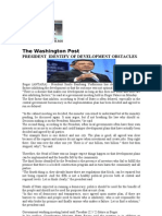 President Identify of Development Obstacles