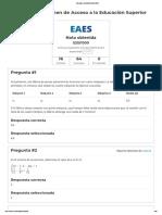 Simulador EXAMEN EAES 2020