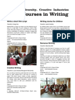 VU Writing Short Courses Sem 1 2011