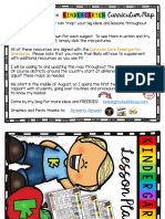 Kindergarten Lesson Plans for Back to School Free Curriculum Map August