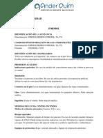 Ficha de Seguridad de FDS ForMALDEHIDO