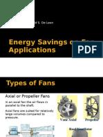 Energy Savings on Fan Applications