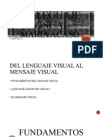 EL LEGUAJE VISUAL - Maria Acasso