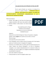 Consideraciones y consignas primer parcial Filo. Educ. 2020 PRESENCIAL