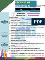 Reinscripción de MEB al módulo 4°, Enero - Abril 2021, UPN 151 Toluca