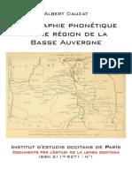 Albert DAUZAT - Géographie phonétique d'une région de la Basse-Auvergne