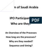 Kingdom of Saudi Arabia - The IPO Process