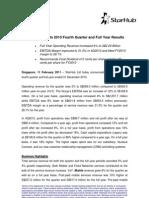 StarHub press release on FY2010
