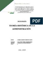 Teoría Sistémica de La Administración