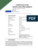 CURRICULUM VITAE - Marcos Jair López Zumaeta