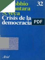 Bobbio Norberto-Crisis Democracia Leccion Clasicos 1985