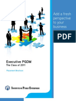 Executive PGDM - Placement Brochure