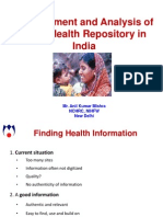 Development and Analysis of Child Health Repository in India - Anil Mishra