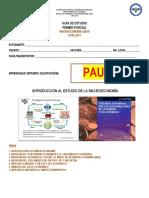 PAUTA_Guía de Estudio Macroeconomía_I Parcial_II PAC 2017AH