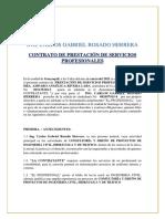 Contrato por prestación de servicios Ing Carlos Rosado Herrera