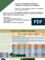 Elementos de Seguridad de Los Billetes Colombianos
