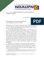 desenvolvimiento historico de las universidades pdf