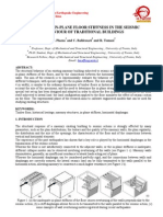 The role of in plane floor stiffness in the seismic behavior