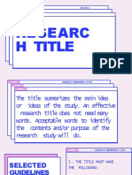 Research Title