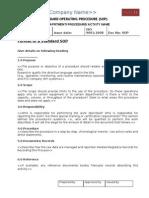 Format of a Standard SOP