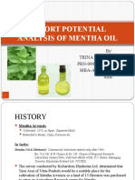 Export Potential Analysis of Mentha Oil