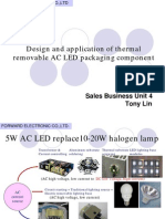 Introduction of AC LED