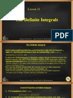 Lesson 11 Definite Integrals