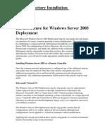 48667784-Active-Directory-Installation