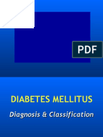 1. Diagnosis and Classification of DM