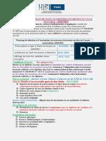 Appel à candidature au cycle doctoral-2020-2021